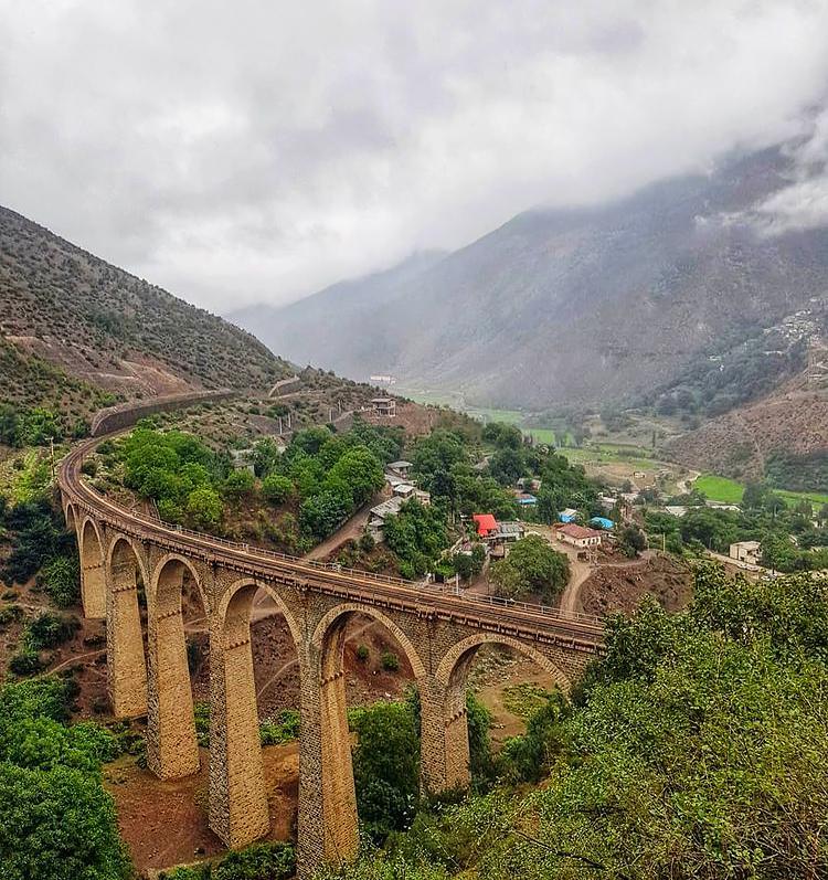 عکس مسیر ریلی سوادکوه مازندران . راه آهن شمال