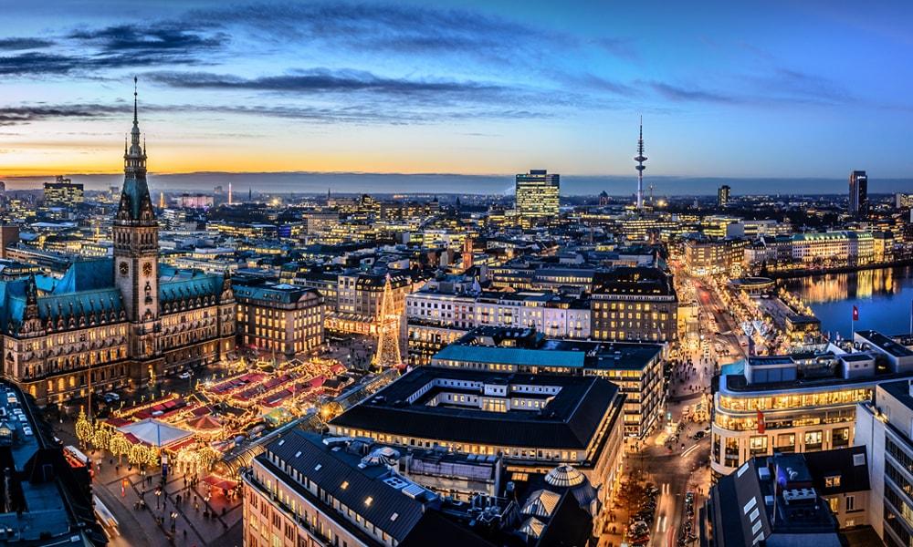 نمایی از شهر هامبورگ
