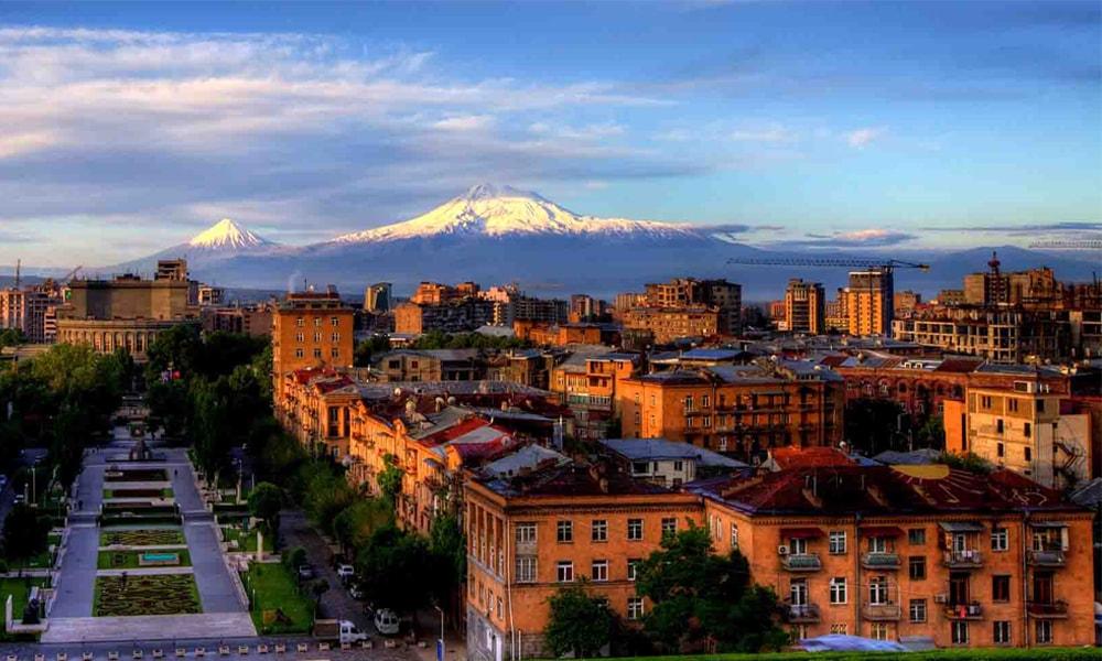 نمایی از شهر ایروان