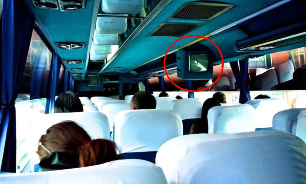 نمایشگرهای پخش فیلم در اتوبوس های معمولی