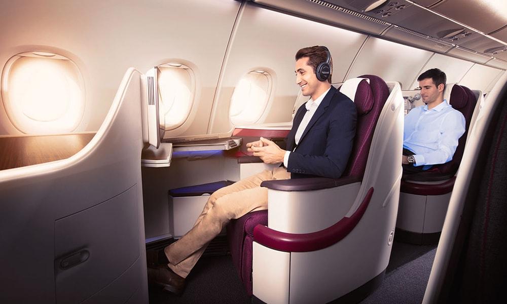 بیزینس کلاس هواپیمایی قطر