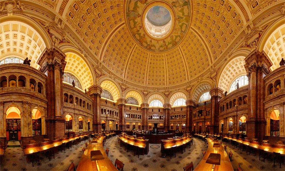 زیباترین کتابخانه های عمومی جهان-کتابخانه کنگره در آمریکا