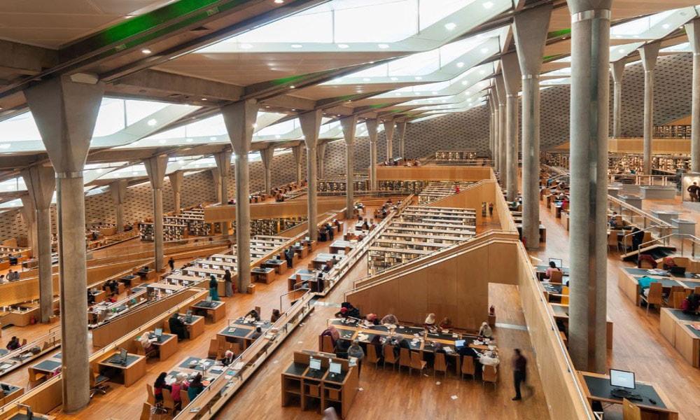 زیباترین کتابخانه های عمومی جهان-کتابخانه اسکندریه مصر
