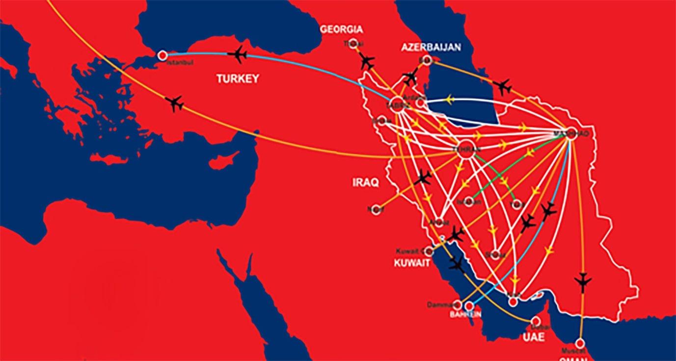 مسیرهای پروازی ایلاین آتا