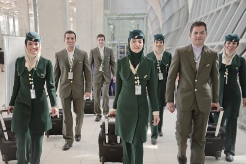 کادر پروازی و مهمانداران هواپیمایی ماهان