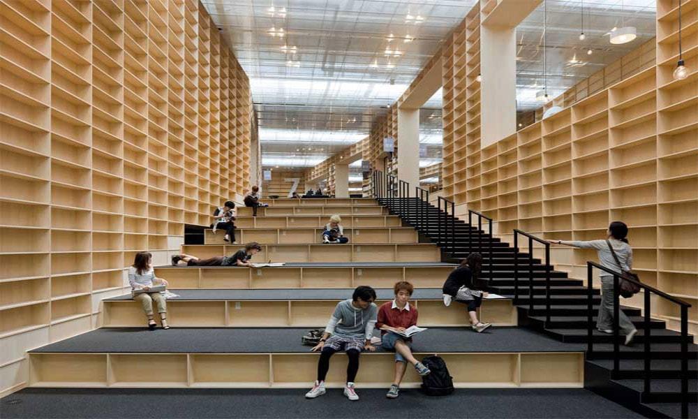 زیباترین کتابخانه های عمومی جهان-کتابخانه ژاپن