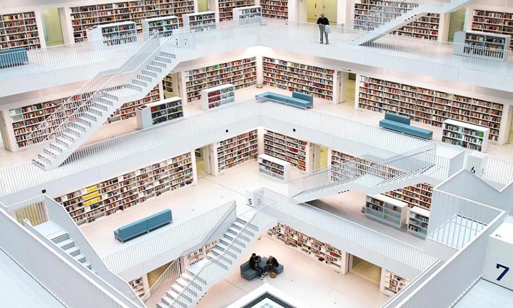 زیباترین کتابخانه های عمومی جهان-کتابخانه اشتوتگارت